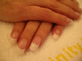 Karen - CND Permanent French Tip & Overlay - August 2005